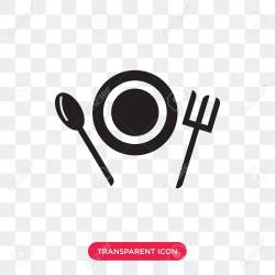 Food Vector Icon Isolated On Transparent Background Food Logo Royalty Free Cliparts Vectors And Stock Illustration Image 107444876