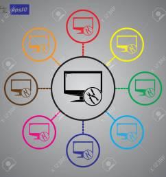 tv repair icon stock vector 55182642 [ 1300 x 1300 Pixel ]