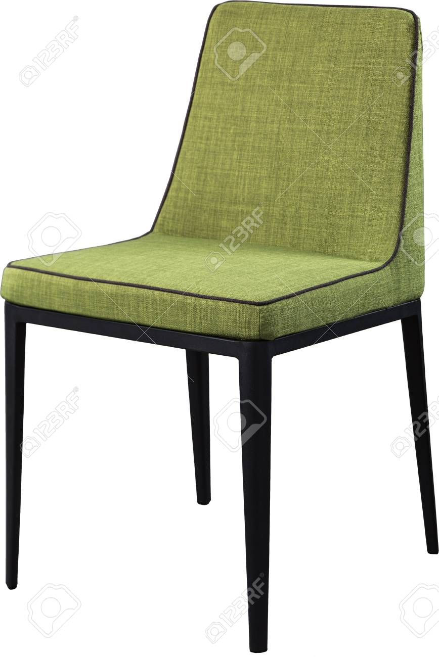 modern green dining chairs pottery barn kids my first chair designer on black metal legs soft stock isolated white background