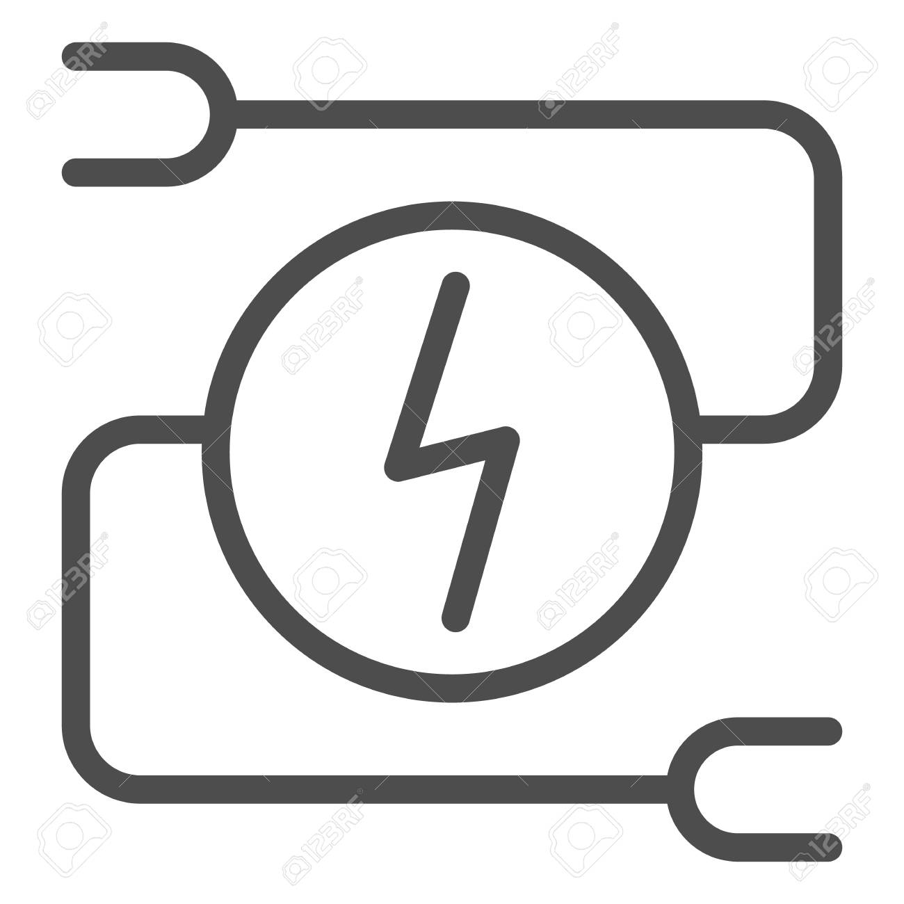 hight resolution of electrical wiring line icon car adapter vector illustration isolated on white automobile cable outline