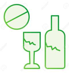 broken glass ban flat icon no glass or bottles gray icons in trendy flat style [ 1300 x 1300 Pixel ]