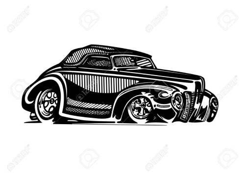 small resolution of vector vector retro hotrod car clipart cartoon illustration