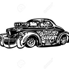 vector vector retro hotrod car clipart cartoon illustration  [ 1300 x 975 Pixel ]