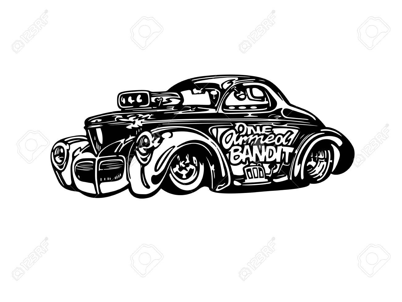 hight resolution of vector vector retro hotrod car clipart cartoon illustration