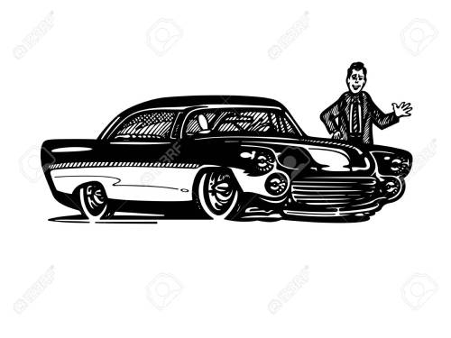 small resolution of vector vector retro hotrod car clipart cartoon illustration classic vintage car
