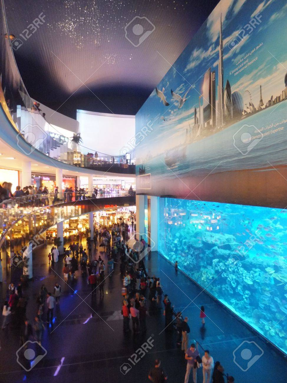 Plus Grand Aquarium Du Monde : grand, aquarium, monde, DUBAI,, Émirats, Arabes, Décembre:, L'aquarium, Centre, Commercial, Dubai, Dubaï,, Decemebr, 2011., Grand, Aquarium, Couvert, Monde