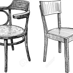 Wooden Chairs Images Chair Step Stool With Slide Out Steps Vector Drawing Of The Old Royalty Free Cliparts