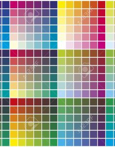 Color palette chart for prepress printing and calibration business stock vector also rh rf