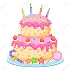 birthday cake illustration [ 1300 x 1300 Pixel ]