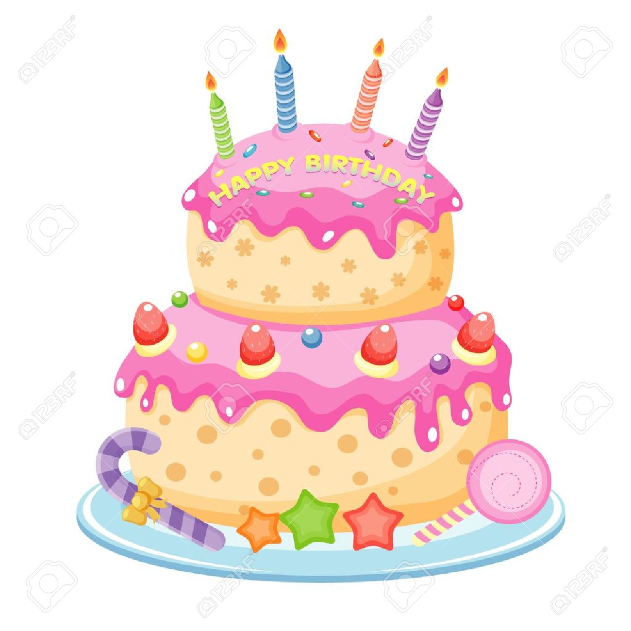 hight resolution of birthday cake illustration
