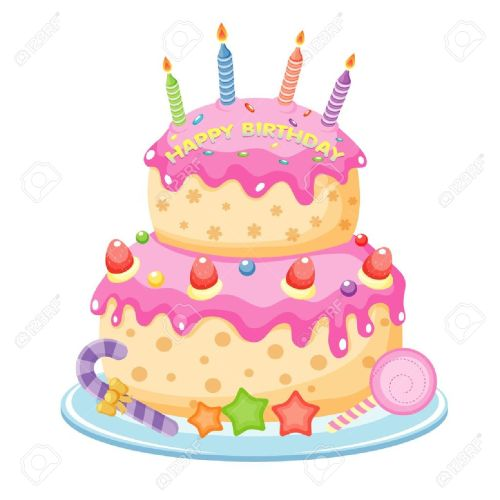 small resolution of birthday cake illustration