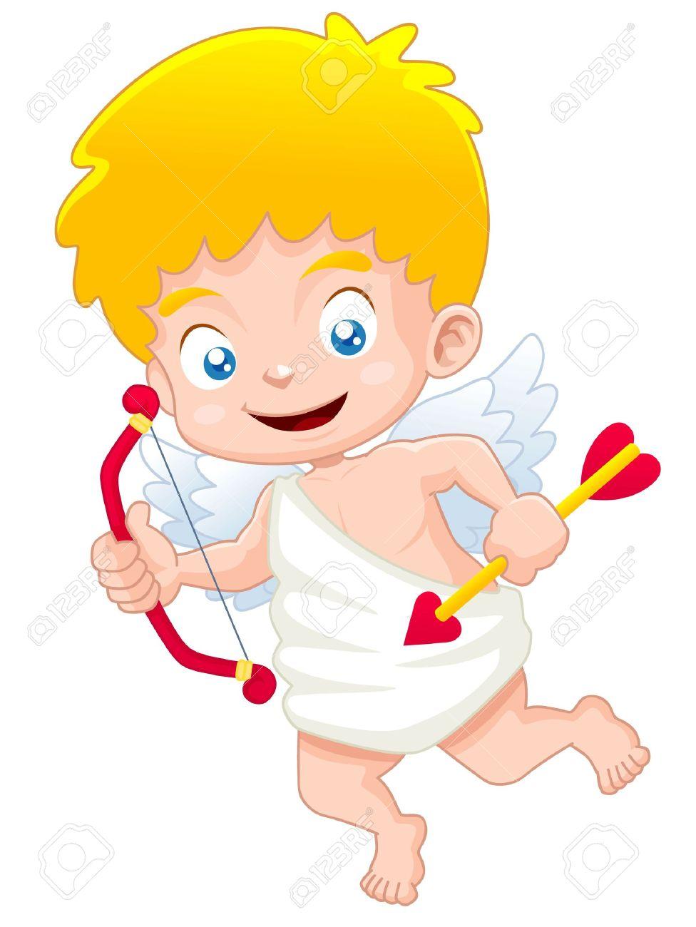 medium resolution of illustration of cute cupid stock vector 15524932