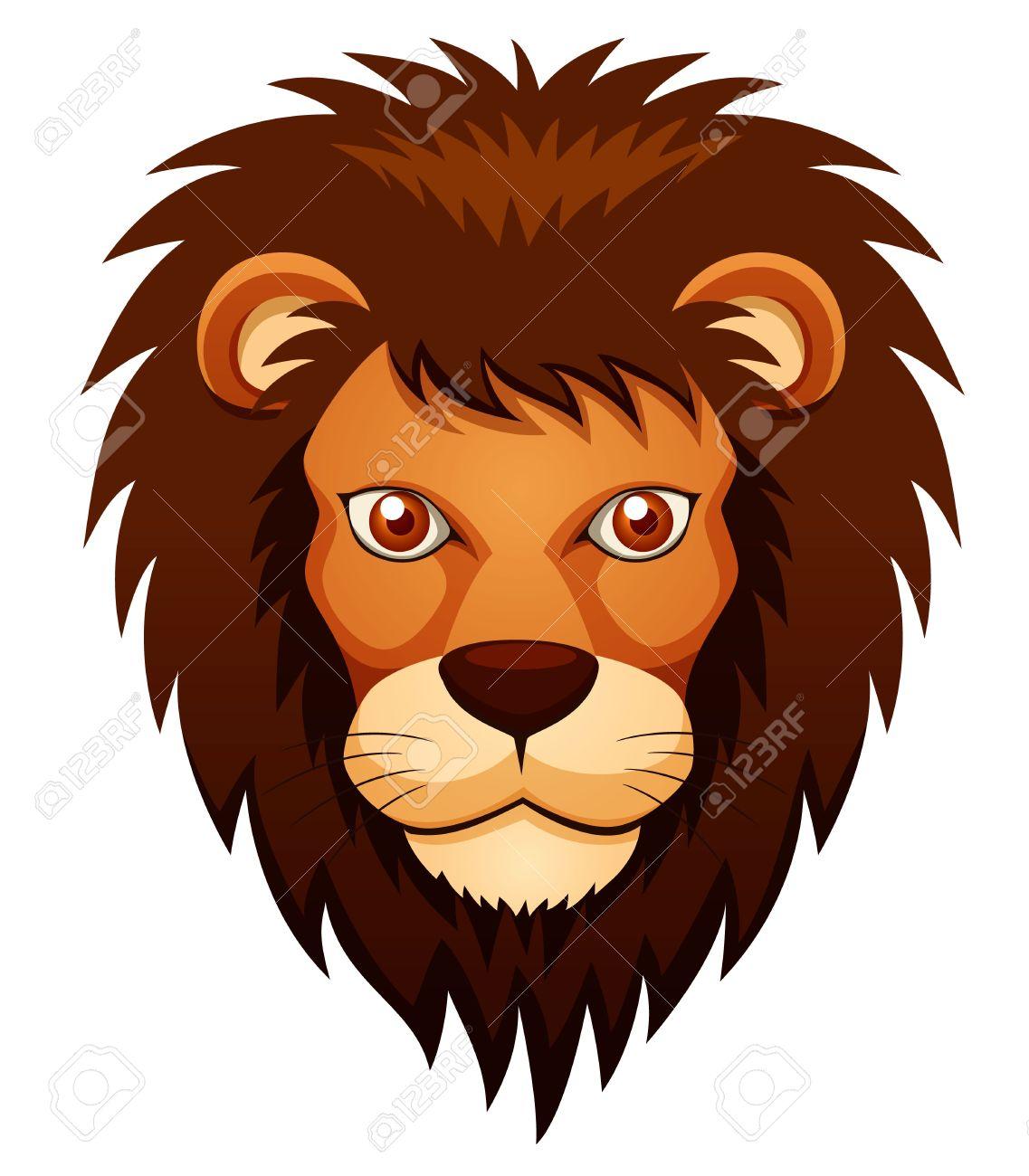 illustration of lion face