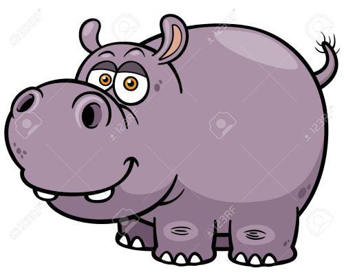 small resolution of illustration of cartoon hippopotamus stock vector 28869785