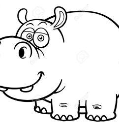 illustration of cartoon hippopotamus coloring book stock vector 28869786 [ 1300 x 1056 Pixel ]