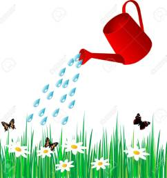 vector watering can water the grass [ 1300 x 1291 Pixel ]