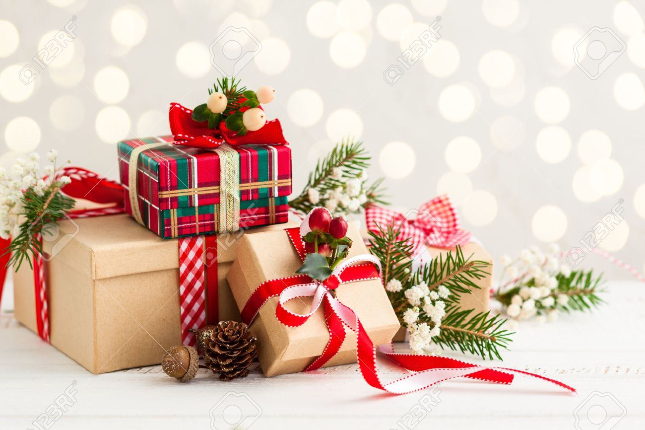 different christmas presents with