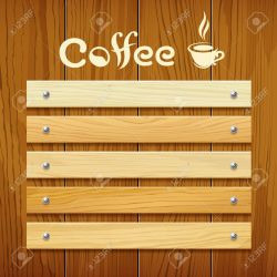 Coffee Menu Wood Board Design Background Royalty Free Cliparts Vectors And Stock Illustration Image 40981194