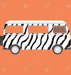 retro safari bus zebra style stock vector 44979856 [ 1300 x 1300 Pixel ]