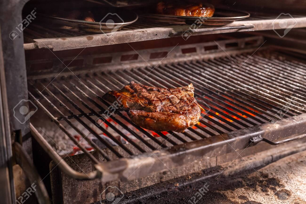 Food Craft And Delicious Concept Cooking Steak On A Grill Stock Photo Picture And Royalty Free Image Image 126426370