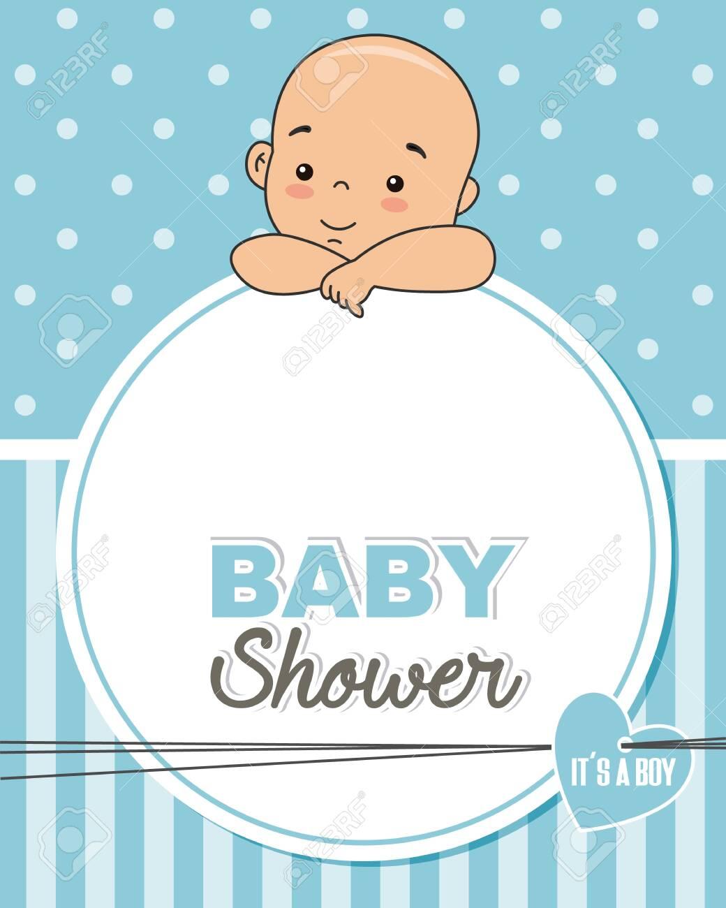 Baby Shower Frame Boy : shower, frame, Frame, Photo., Shower, Card., Royalty, Cliparts,, Vectors,, Stock, Illustration., Image, 127785272.