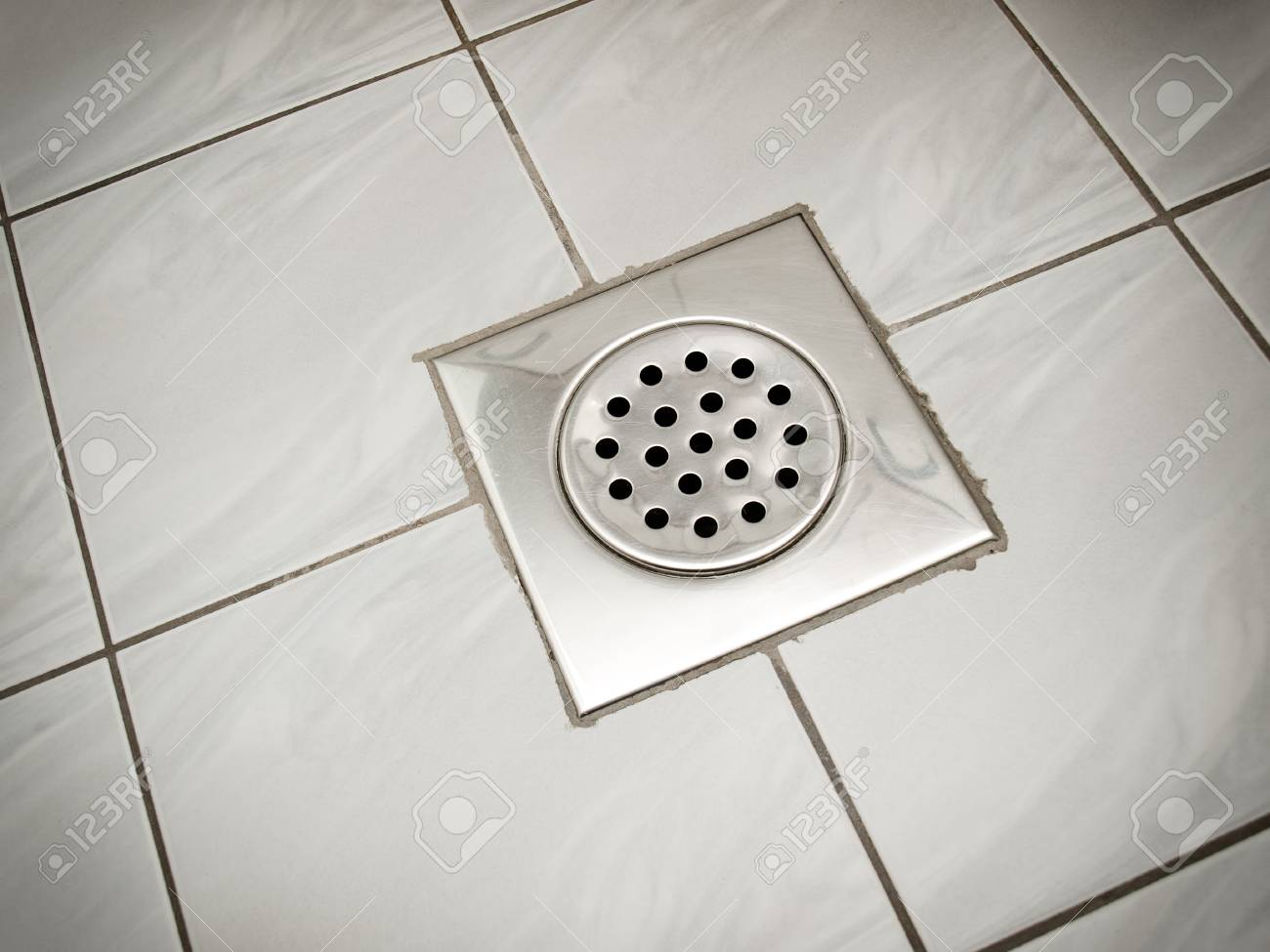 Drain On The Floor Of A Bathroom Or A Kitchen Stock Photo Picture And Royalty Free Image Image 96287953