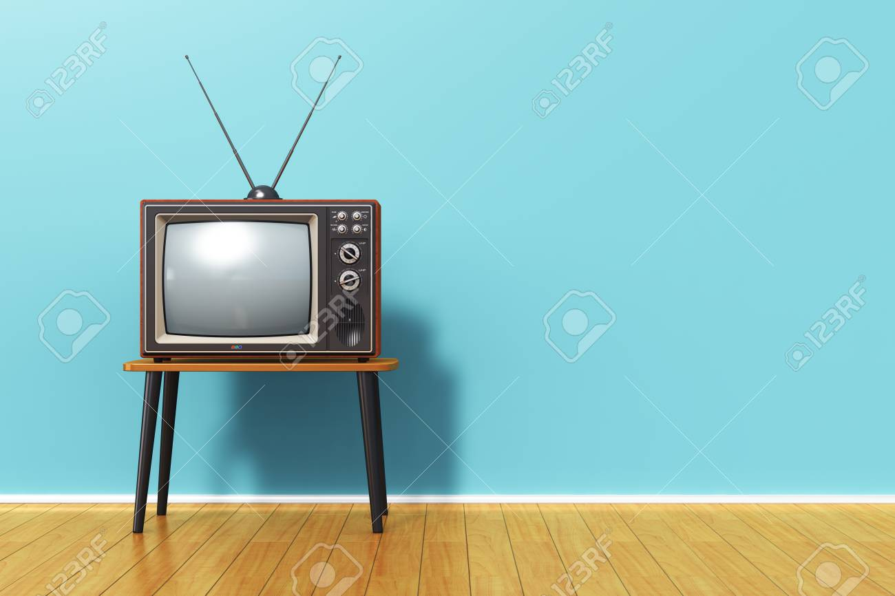 creative abstract 3d render illustration of the old retro tv