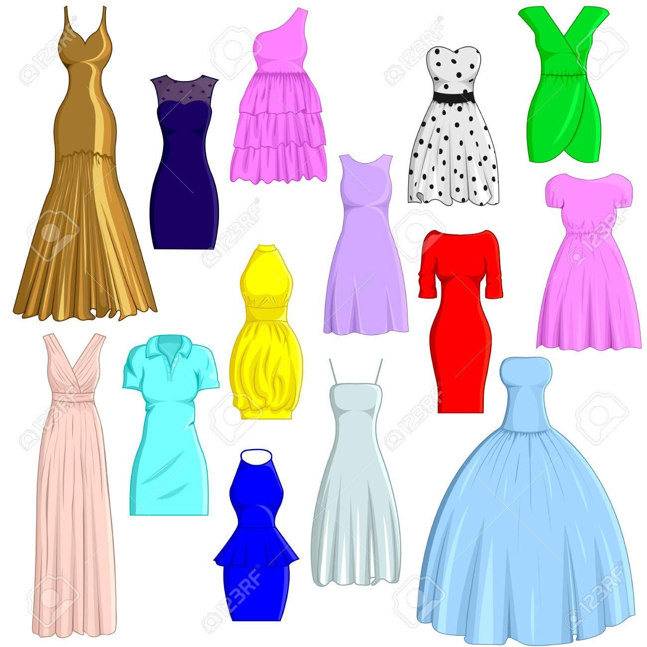 a set of dresses