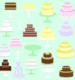 cakes clipart stock vector 35573195 [ 1300 x 1300 Pixel ]