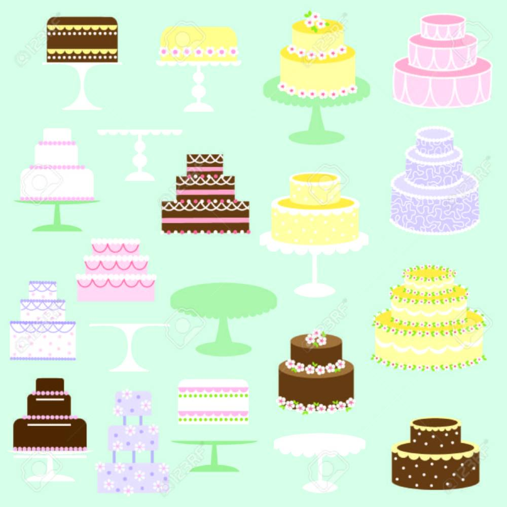 medium resolution of cakes clipart stock vector 35573195