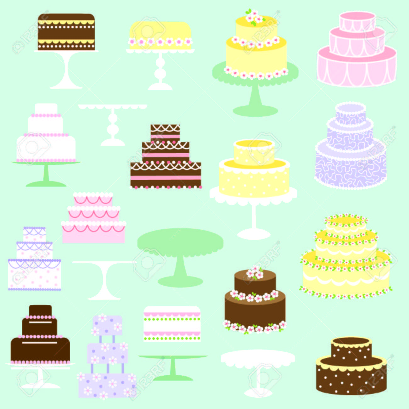 hight resolution of cakes clipart stock vector 35573195