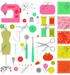 sewing clipart stock vector 35841476 [ 1300 x 1300 Pixel ]