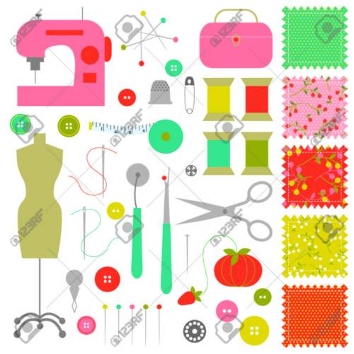small resolution of sewing clipart stock vector 35841476