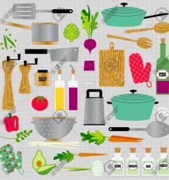 kitchen cooking clipart stock vector 35857761 [ 1300 x 1300 Pixel ]