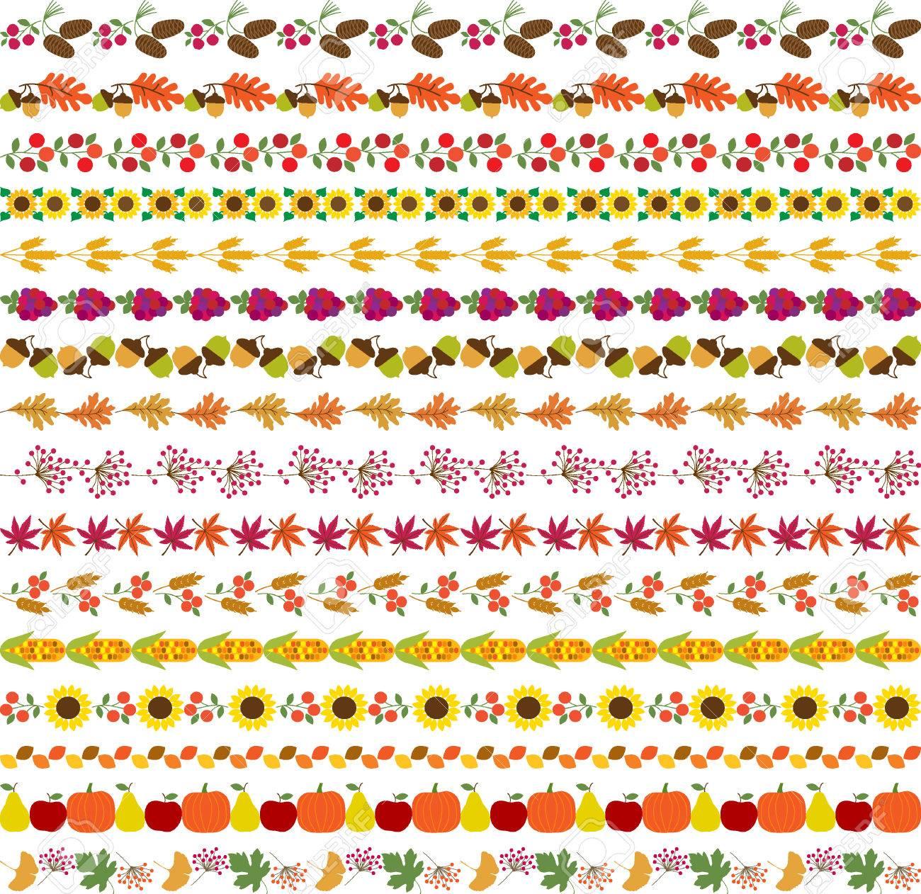 autumn border patterns