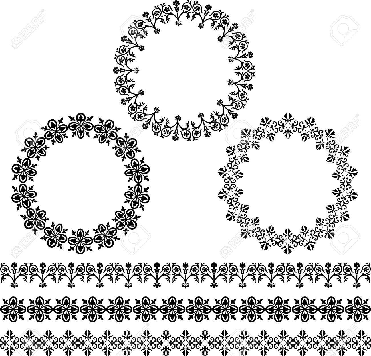 black circle frames and