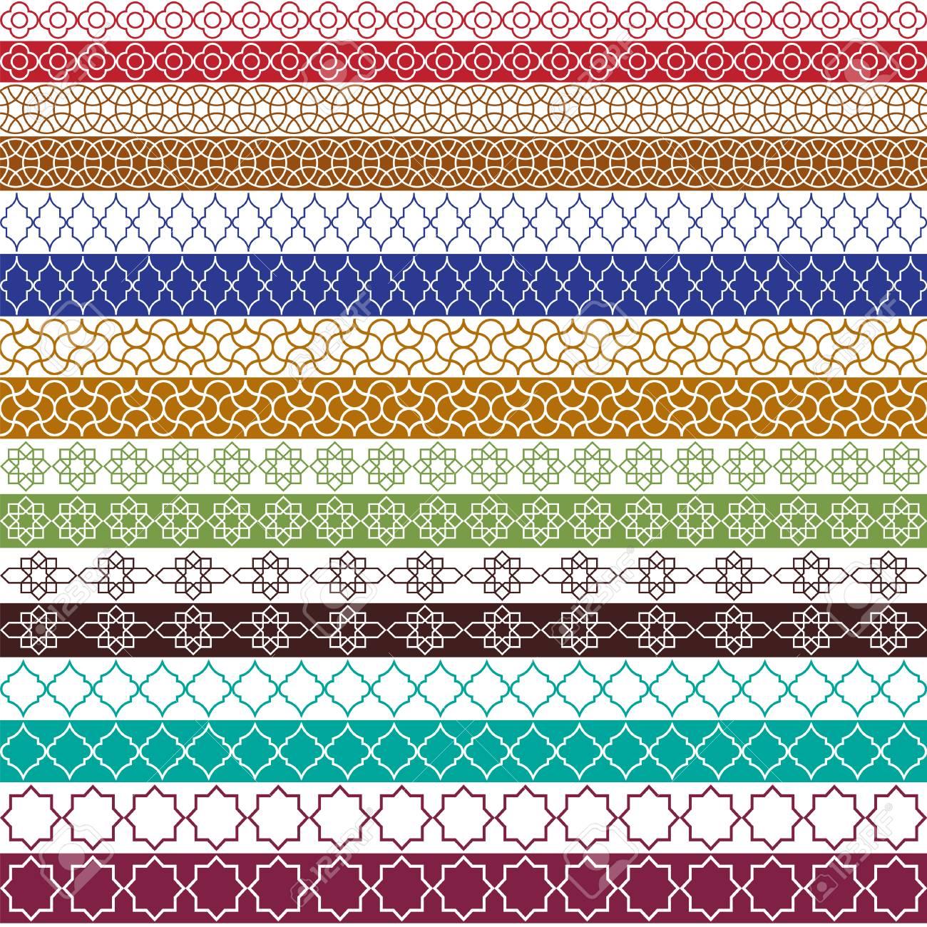 colorful moroccan vector border