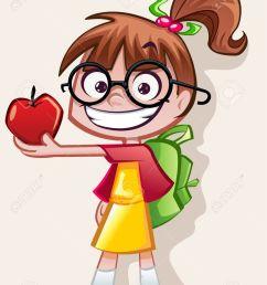 nerd girl teachers pet stock vector 28524442 [ 975 x 1300 Pixel ]