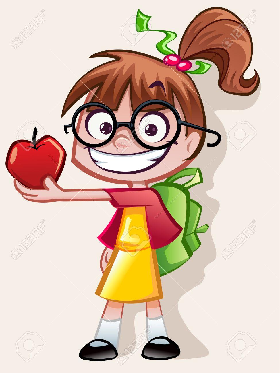 hight resolution of nerd girl teachers pet stock vector 28524442