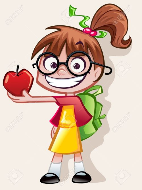 small resolution of nerd girl teachers pet stock vector 28524442