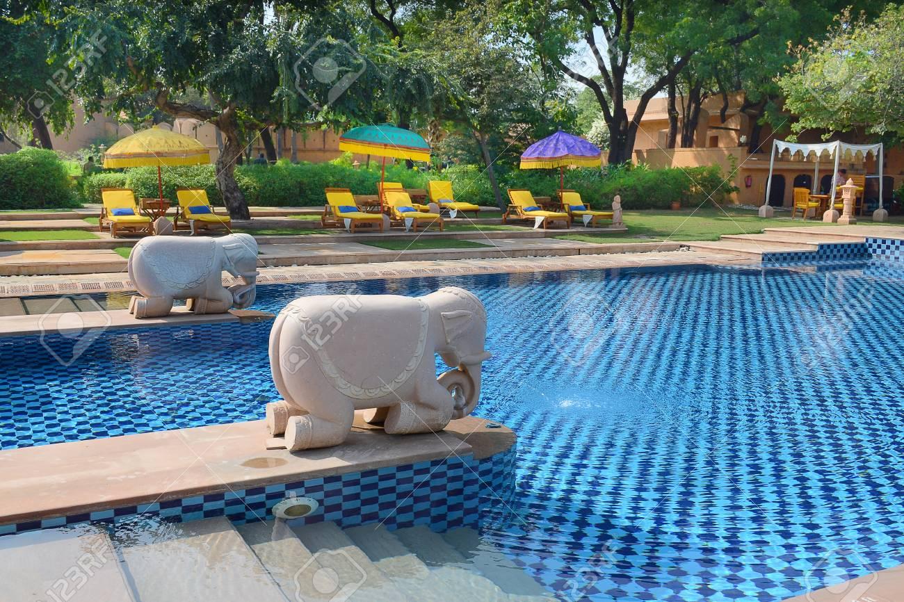 Jaipur India November 2 2015 Pool At The Oberoi Rajvilas