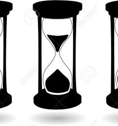 the vector black and white hourglass stock vector 6480969 [ 1300 x 803 Pixel ]
