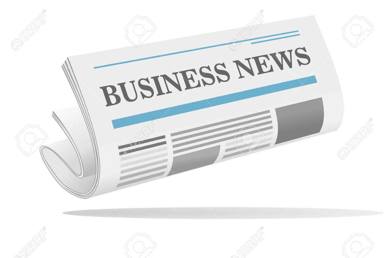 Folded Newspaper Icon With Header Business News Isolated On White Royalty Free Cliparts Vectors And Stock Illustration Image 26344233