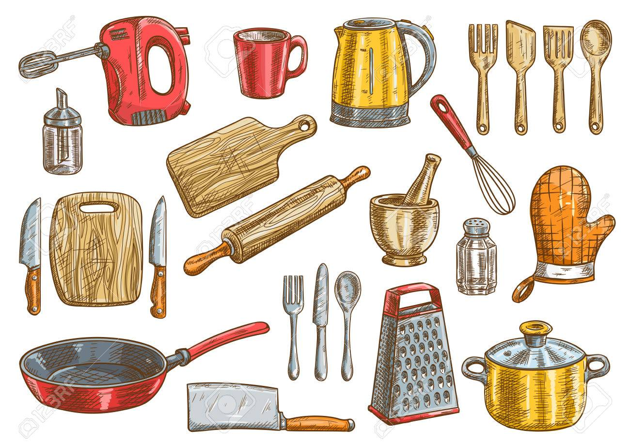 kitchen tool facelift vector tools set kitchenware appliances isolated elements cooking utensils and cutlery icons