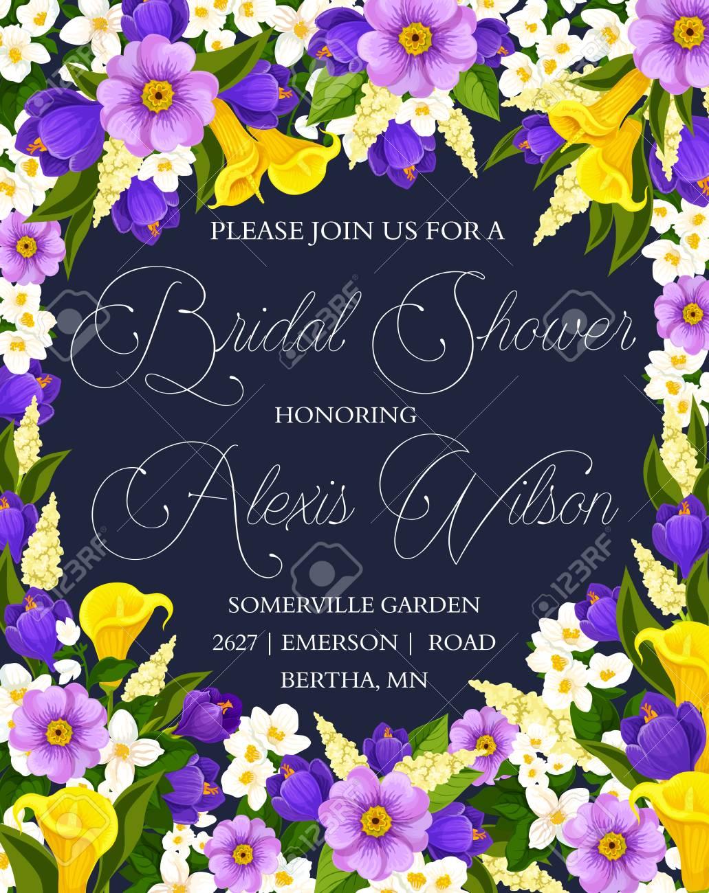 bridal shower floral banner