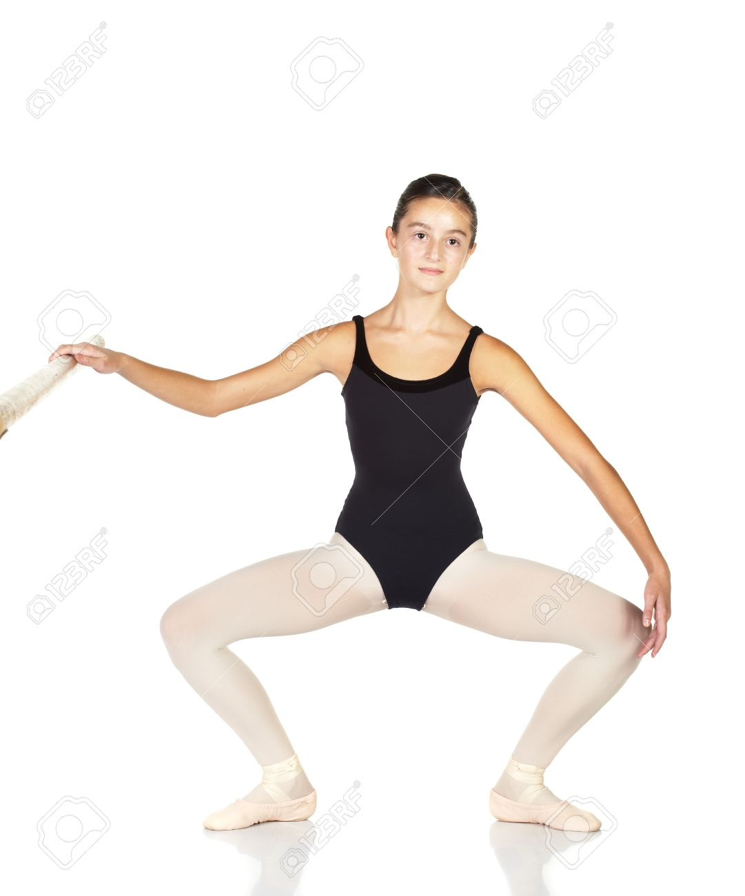 young caucasian ballerina girl