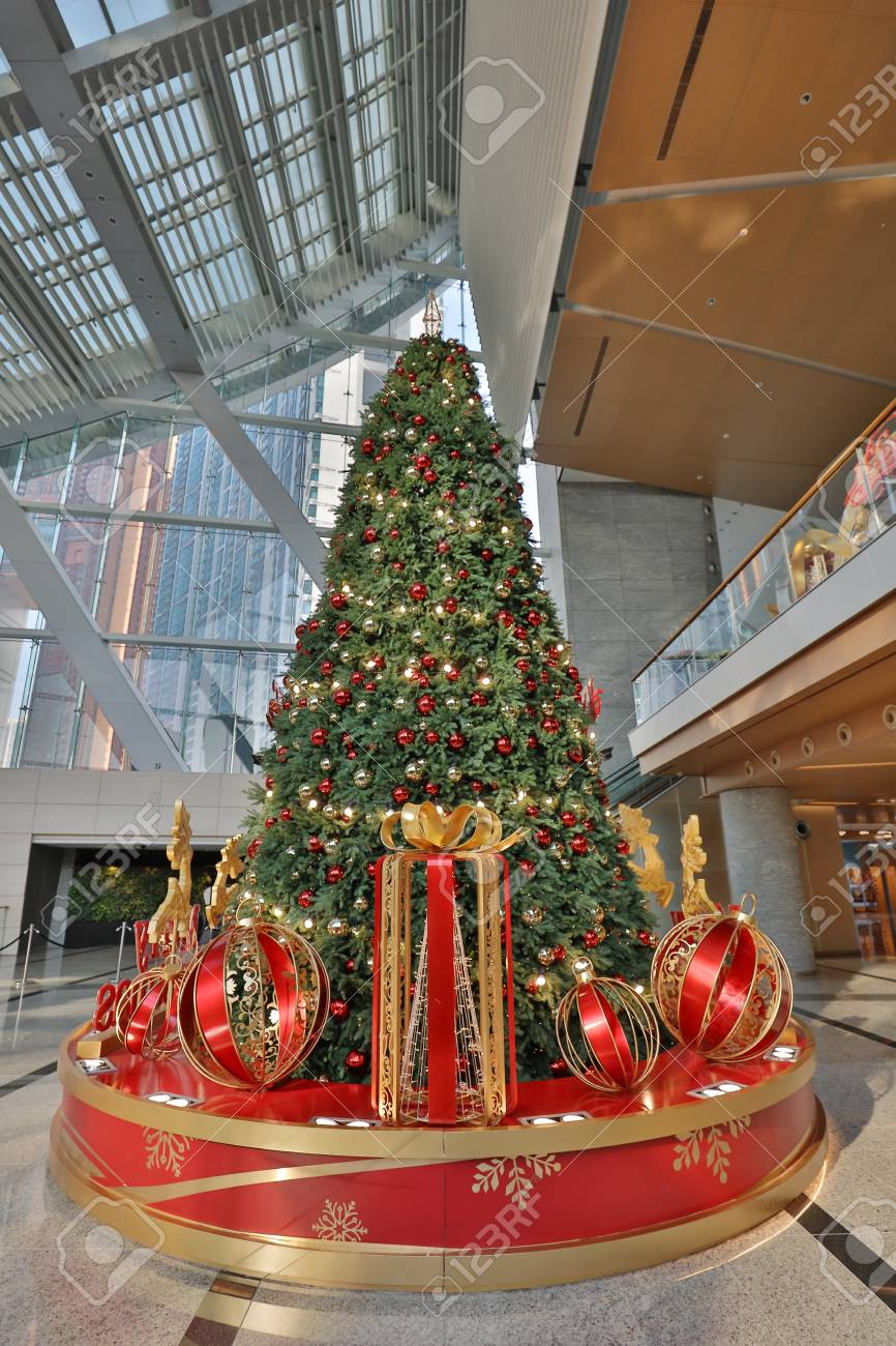 The Christmas Decorations At The Shopping Mall Stock Photo Picture And Royalty Free Image Image 91726927