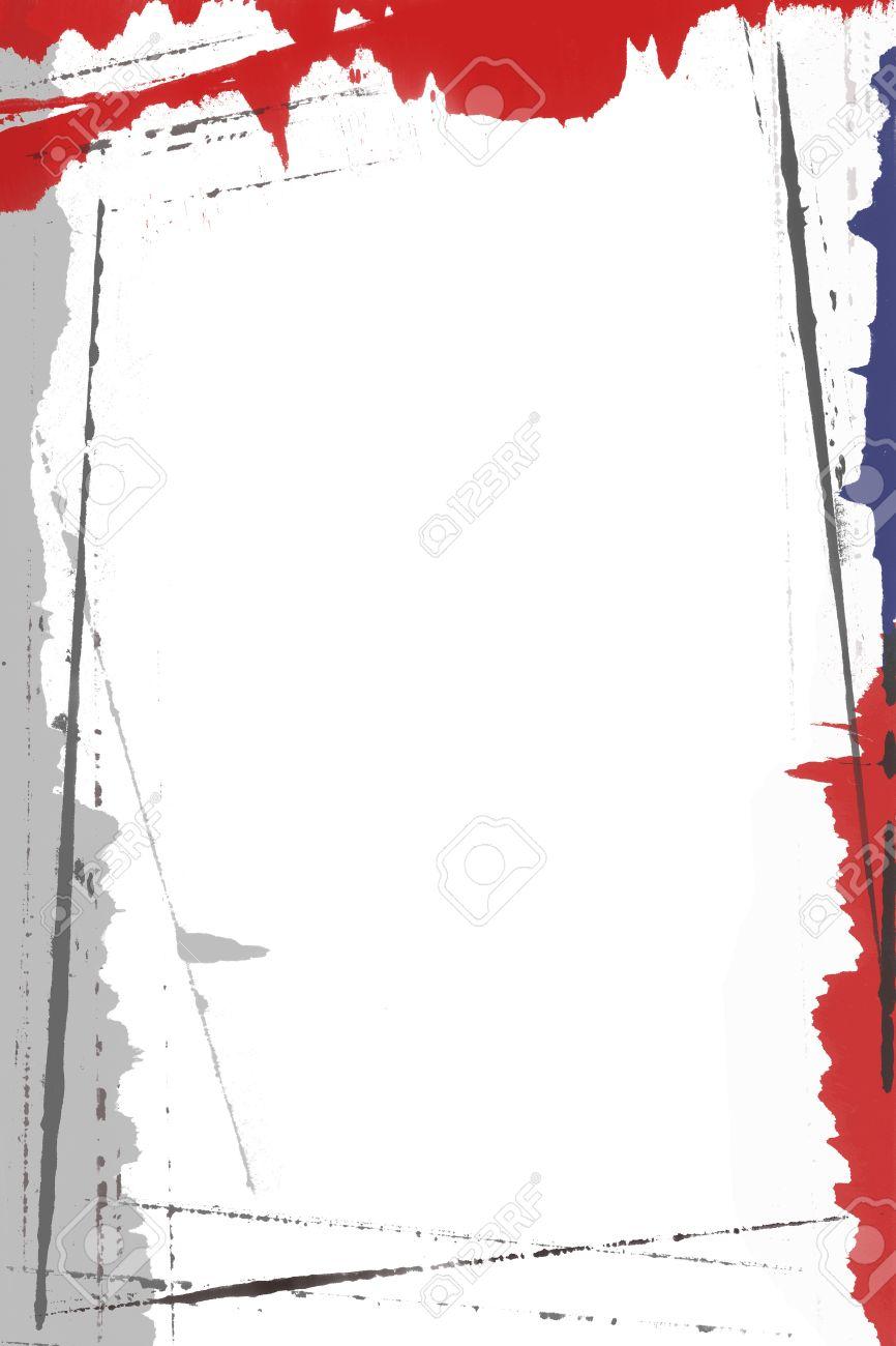 bordure de page resume peint en rouge et gris