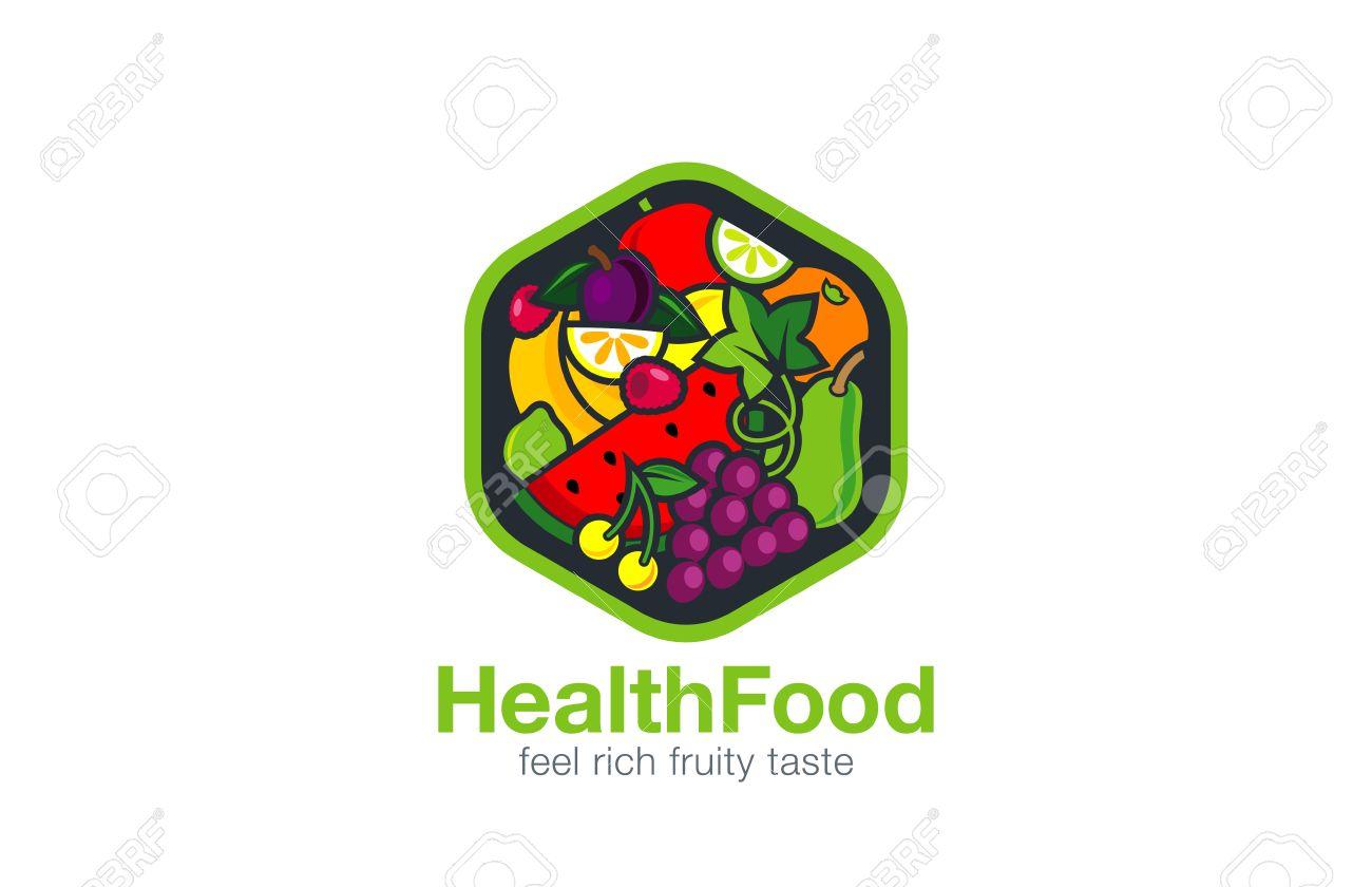 fruit logo design vector