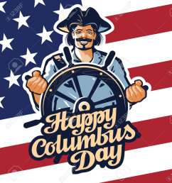 christopher columbus on american flag background stock vector 54649506 [ 1173 x 1300 Pixel ]